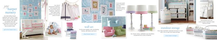 Mix and Match:: Design Your Own in the Harper Shop   Pottery Barn Kids >> Navy base, add pink for girl or green for boy.