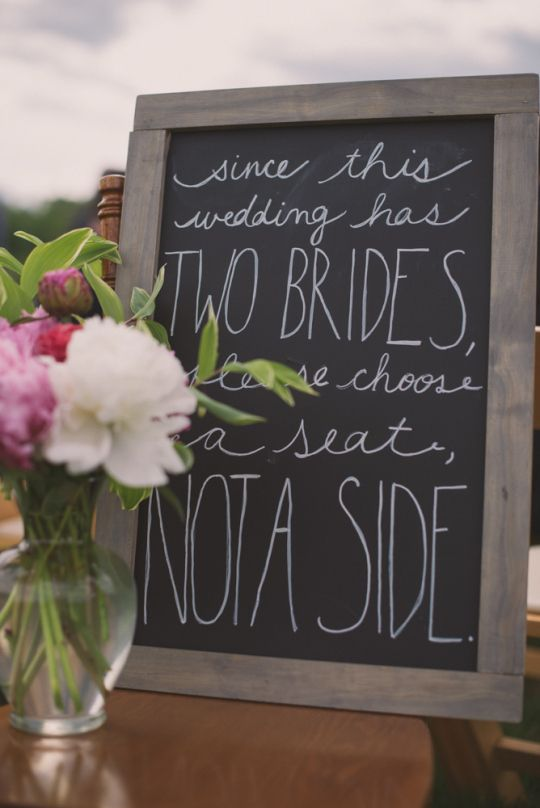 Signs that instruct your guests will make your life a million times easier.