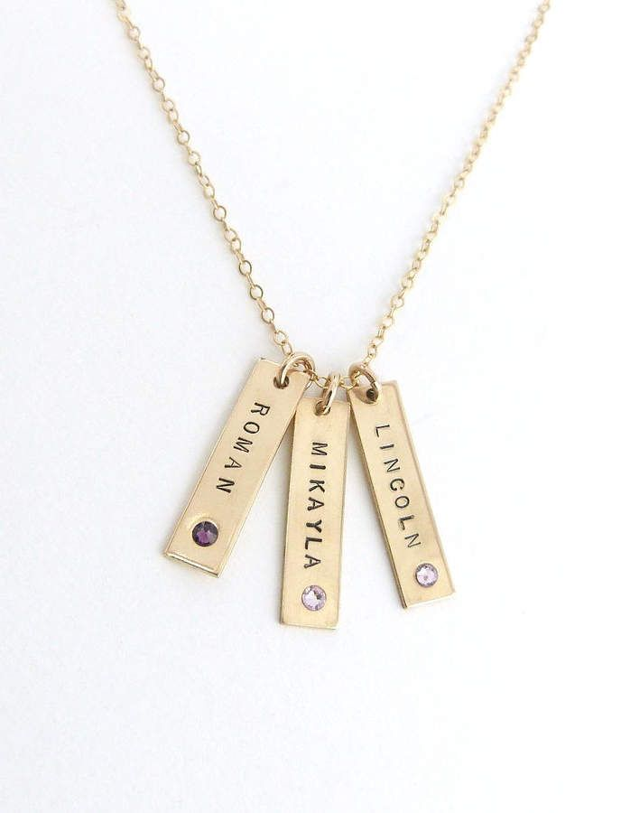 3f217a8a0e Etsy Birthstone Jewelry, Valentines Day Gift, Name Necklace, Personalized  Bar Necklace, Vertical Bar Nec #afflink #valentinesdaygift