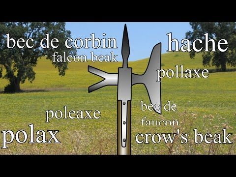 Medieval pole-arms - poleaxe, bec de corbin, Lucerne hammer etc. - YouTube