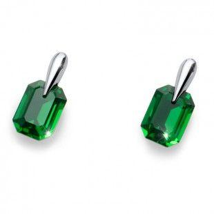 Earring Club rhod. dark green moss #OliverWeber