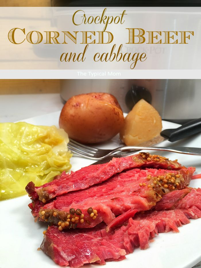 The most FABULOUS crockpot corned beef and cabbage recipe ever!! So easy and the tenderest meat ever.