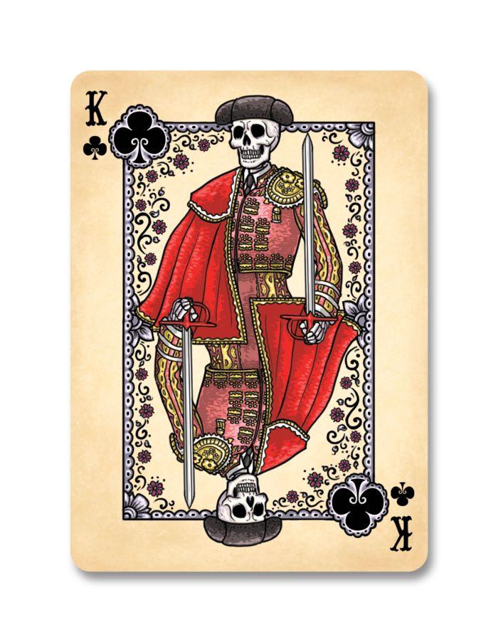 dia des los muertos deck - El Matador King of Clubs