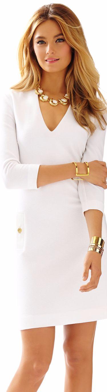 LILLY PULITZER CHARLENA DEEP V-NECK KNIT SHIFT DRESS