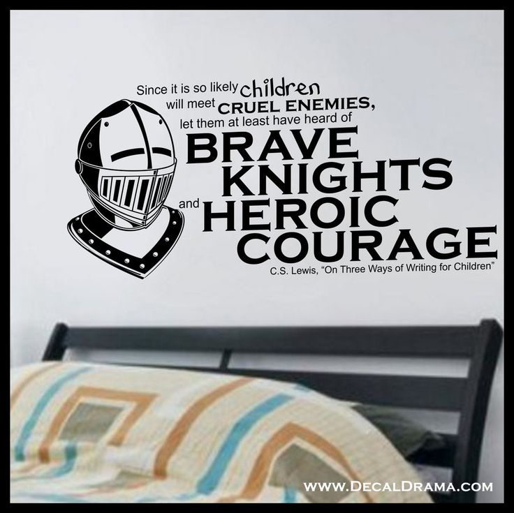 Brave knights and heroic courage vinyl decal aslan chronicles of narnia cs lewis