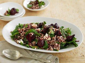 Roast Beetroot, Feta & Spinach Rice Salad - SunRice