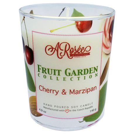 """Vonná sojová svíčka ARosée """"Cherry & Marzipan"""" Scented soy candle ARosée Cherry & Marzipan Home decor Domácí dekorace"""
