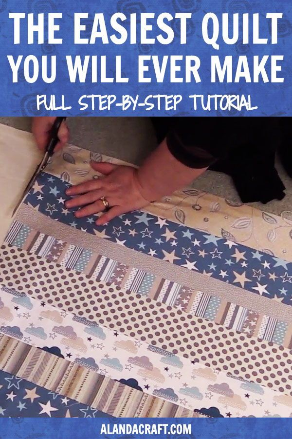 Super simple beginner quilt tutorial. Free complete video, step by step AND written in …   – Winter crafts