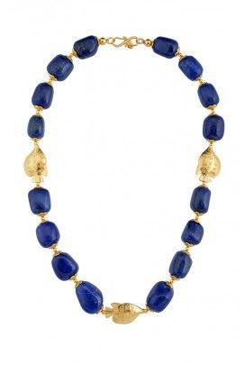 Lapis n fish necklace ...
