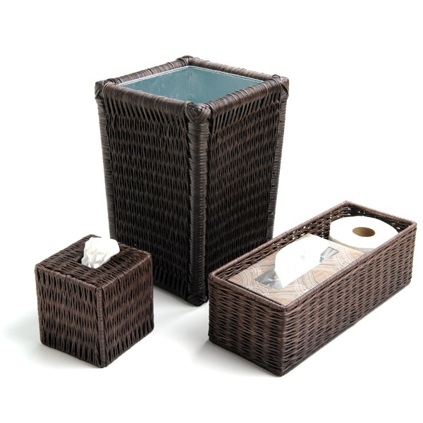 Attrayant Wicker Bathroom Accessories In Espresso From The Basket Lady