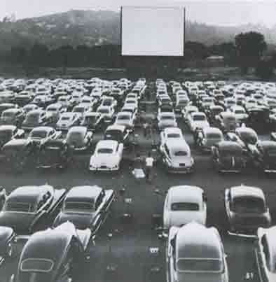 Remembering Drive-In theaters. Momma would pop a paper grocery bag of popcorn & I would wear my pajamas... so much fun!!!