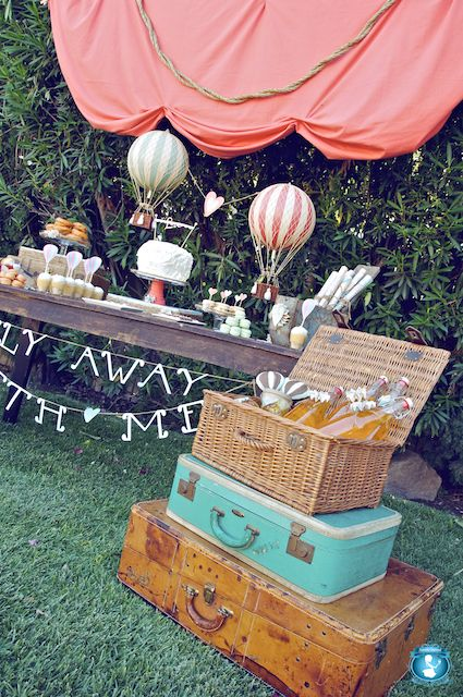 "Would be cute at a Graduation Party....""Oh the Places You'll Go"" with suitcases..."