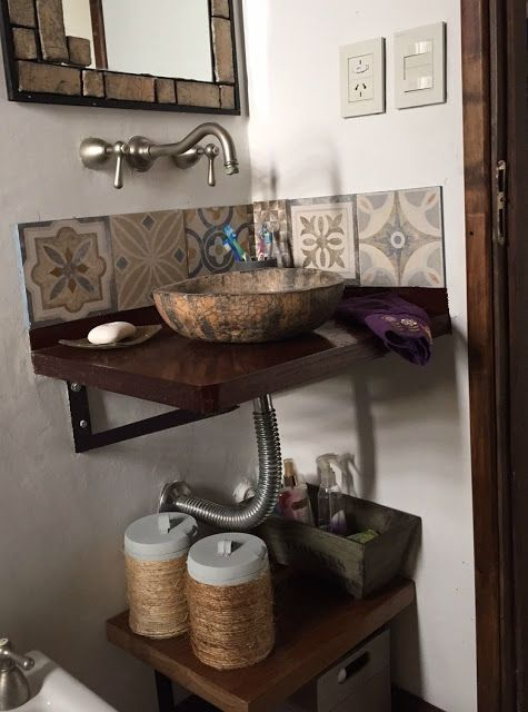 Baño renovado - Mamy a la obra