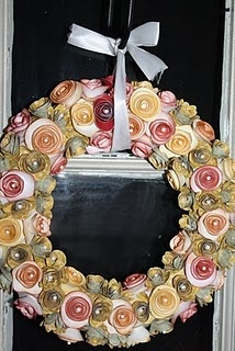 ...: Paper Rose, Crafts Ideas, Broken Treasure, Beautiful, Fall Wreaths, Blog, Autumn Wreaths, Paper Flowers Wreaths, Handmade Paper