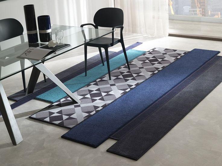 Handmade fabric rug PORTOBELLO New Dreams Collection by Besana Moquette design Roberto Besana