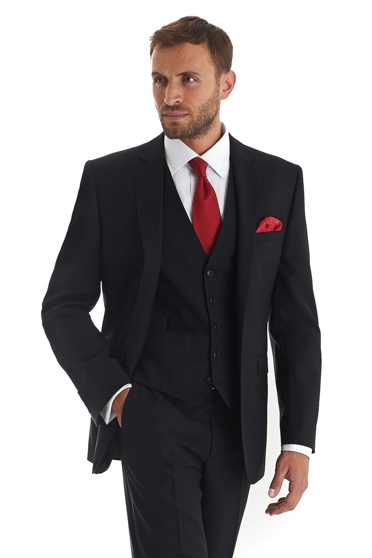 Cerruti cloth black, single breasted two button tailored fit suit jacket in  super fine pure wool. Matching trousers available separately.