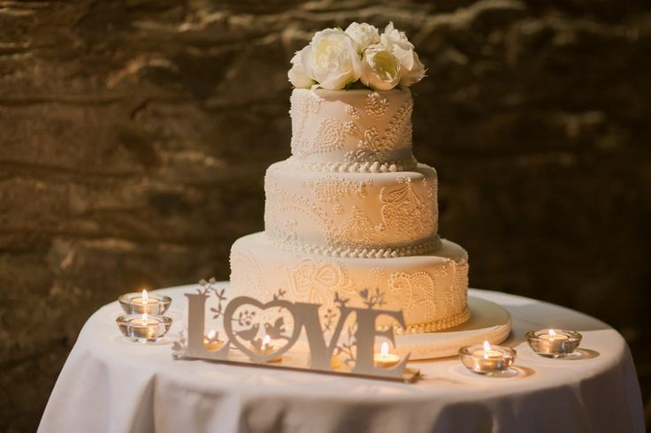Cake with topper by www.theeternalvase.com.au @ Chateau Dore Winery