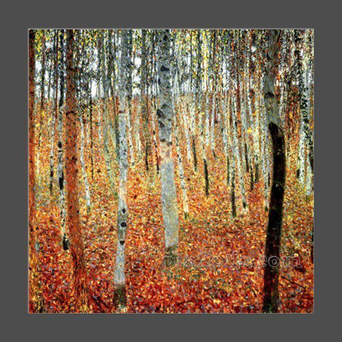 Forêt de Gustav Klimt de peinture à l'huile des arbres de hêtre c1903 (achat directement)