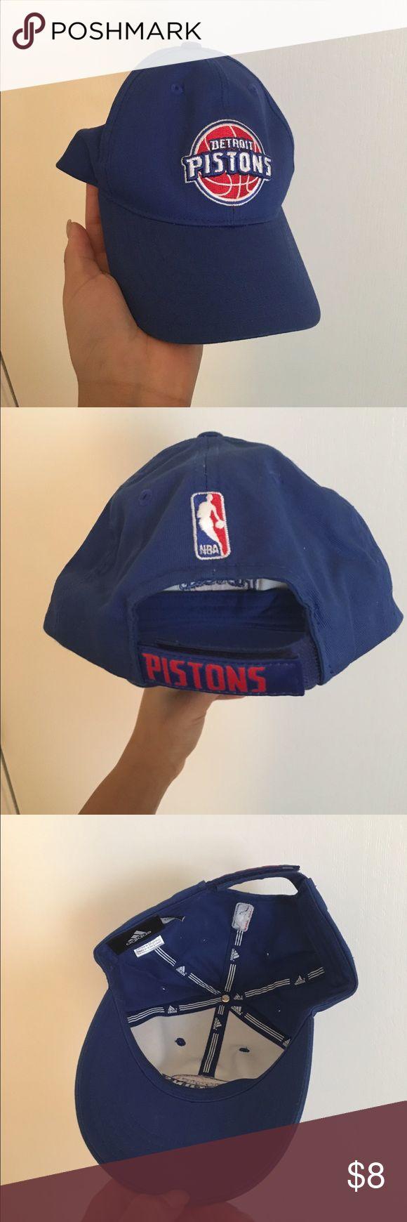 Adidas Detroit Pistons Baseball Cap Blue Adidas Baseball Cap Adidas Accessories Hats