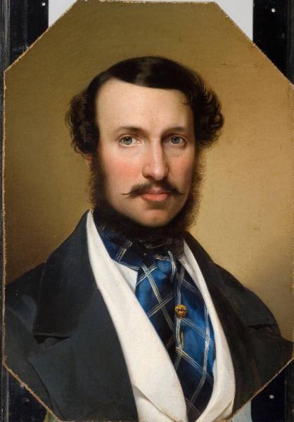 Portrait of a Genleman attr. to Giuseppe Molteni (Italian 1800-1867)