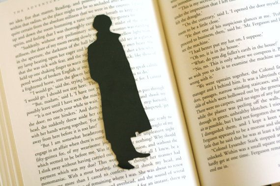 Sherlock Holmes Bookmark  Handcut Silhouette by GracefulDiligence, $6.00