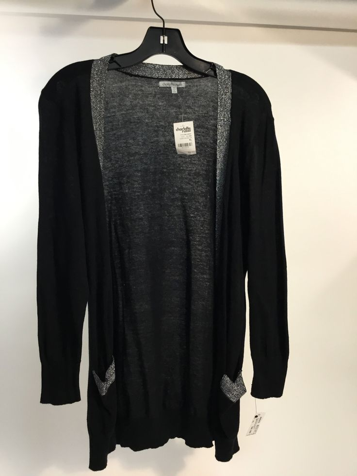 Black/silver cardigan