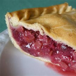 Fresh Rhubarb Pie - Mom used to grow her own rhubarb in her backyard, and when her rhubarb was ripe, what great pies she made! This is her recipe