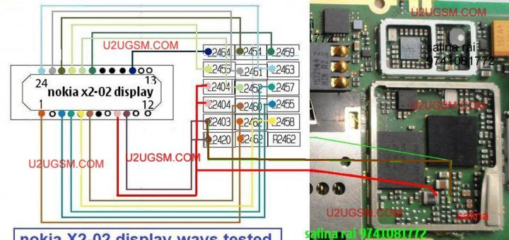 Nokia X2 02 Lcd Display Connector Jumper Solution Ways Nokia