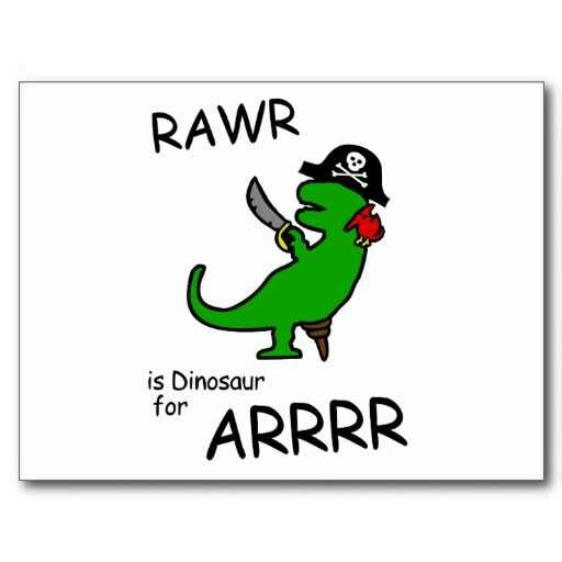 Rawr pirate dinosaur