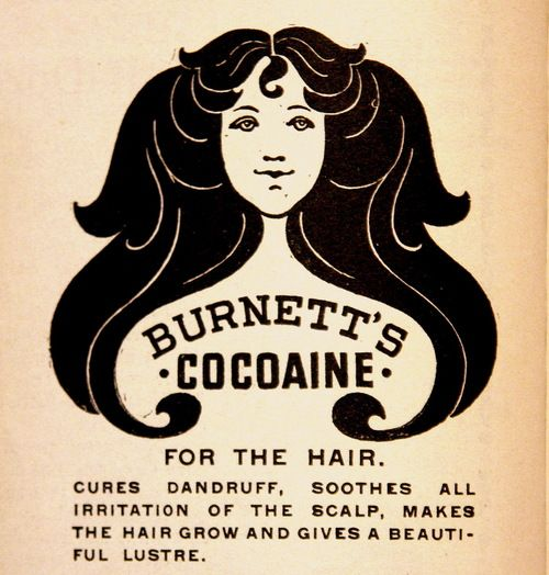 Cocaine (Cocoaine) for the hair - 1896