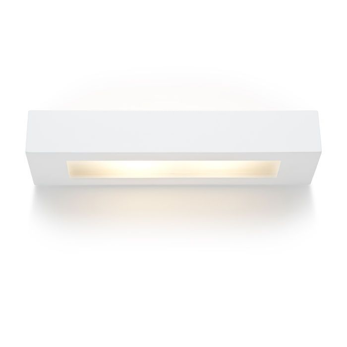ROLO - Nástenné sadrové svietidlo so svietením UP / DOWN. Spodná časť svietidla je krytá satinovaným sklom. Svietidlo je možné premaľovávať bežnými interiérovými farbami.
