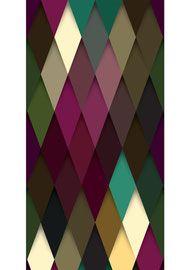 Diese Design Tapete ist für Menschen mit Mut, die Farben und mutige Muster lieben.