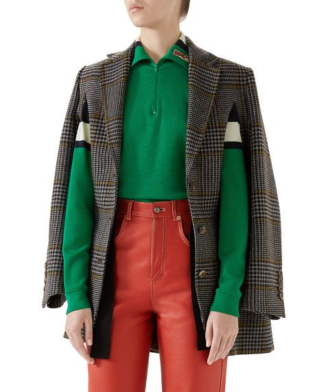 e63d77501 Gucci Single-Breasted Prince of Wales Check Wool Cape Jacket and Matching  Items | Gucci | Cape jacket, Wool cape, Jackets