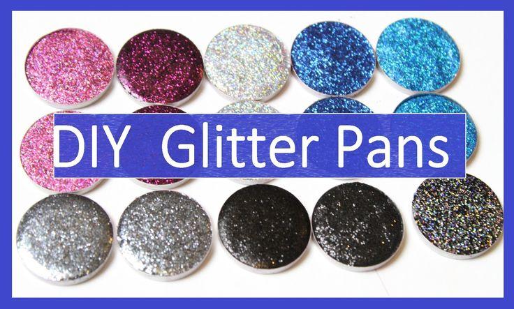 HOW TO - DIY pressed glitter eyeshadow pans | Yasmine Alom