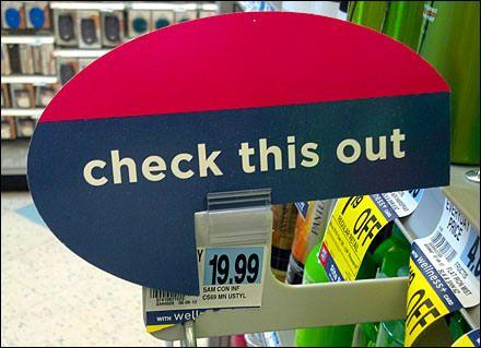 Bottom Mount Strip Merchandiser Grip Clip Adds Speech Balloon