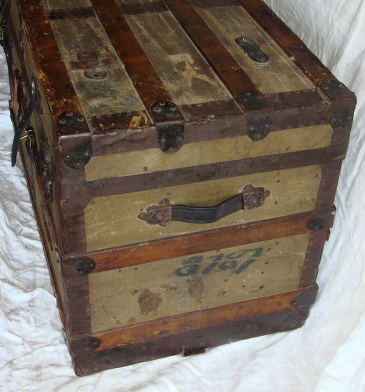 images of antique trunks | antique victorian steamer trunk 1890 antique furniture antique chests ...