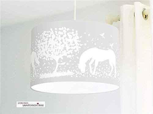 Deckenlampe für Mädchen Kinderzimmer mit Pferden in