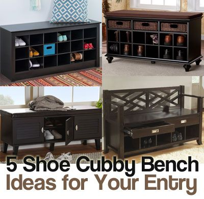 5 Shoe Cubby Bench Ideas. Organize, Store and Even Conceal Your Shoes in Style with These 5 Entryway Shoe Cubby Benches: Affordable, Easy to Assemble and Stylish.