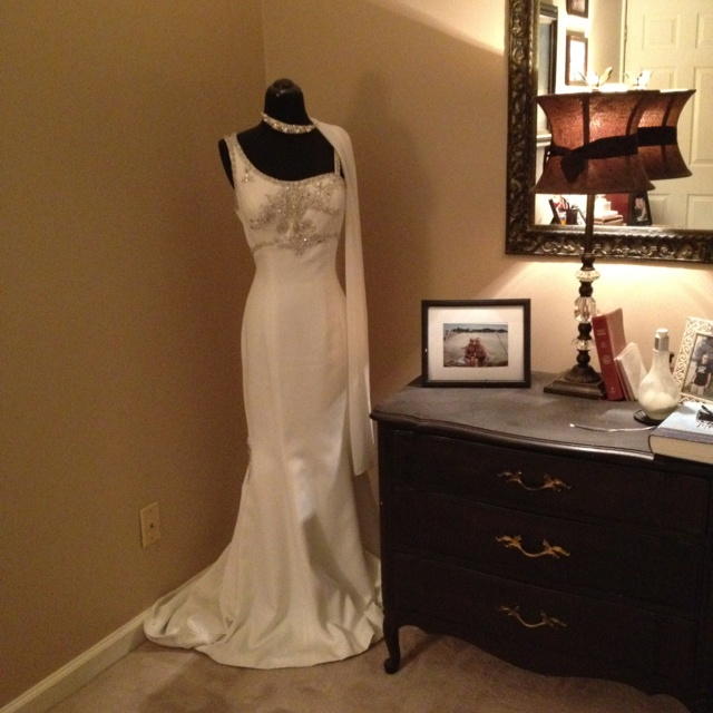 My wedding dress will be displayed in my bedroom.....:)