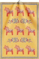 """Large Dala Horse """"Kurbits"""" Towel"""