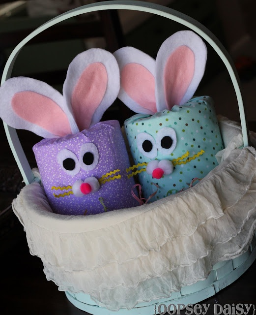 """These super easy, DIY """"TP"""" Easter bunnies are the perfect decorations to place around your home."""