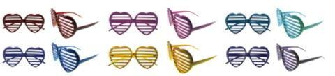 Wholesale Large Heart Shape Framed Lensless Glasses (Case of 36)