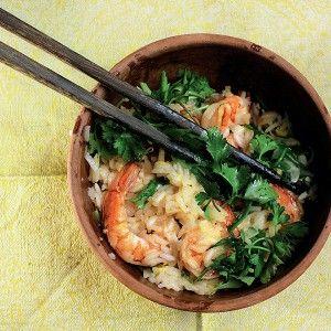 Сладкий рис с чесноком, креветками и рукколой рецепт – китайская кухня: основные блюда. «Афиша-Еда»