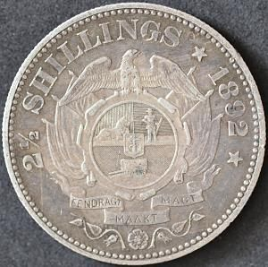 1892 South Africa 2 1/2 shillings
