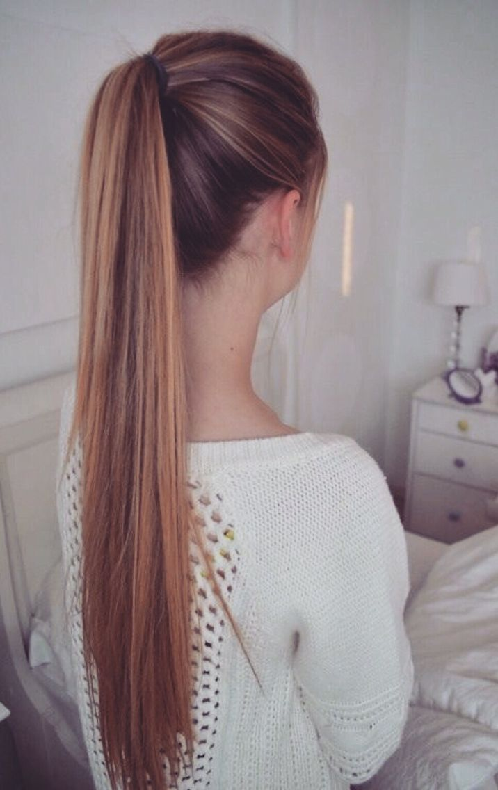 straight ponytail hairstyles : ... Hair Ponytail on Pinterest Pony tails, Messy ponytail and Hair