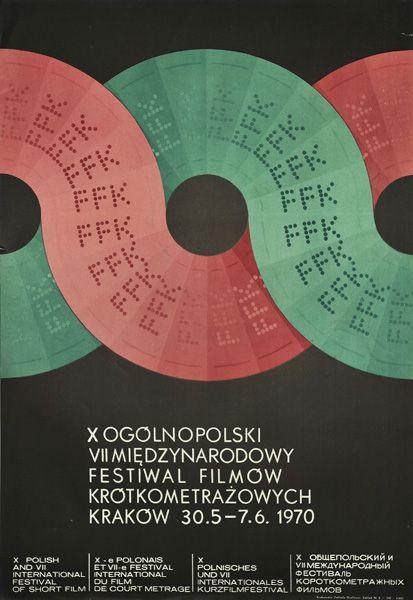 Poster announcing Polish and international Short Film Festival in Krakow, 30.05 – 7.06.1970.