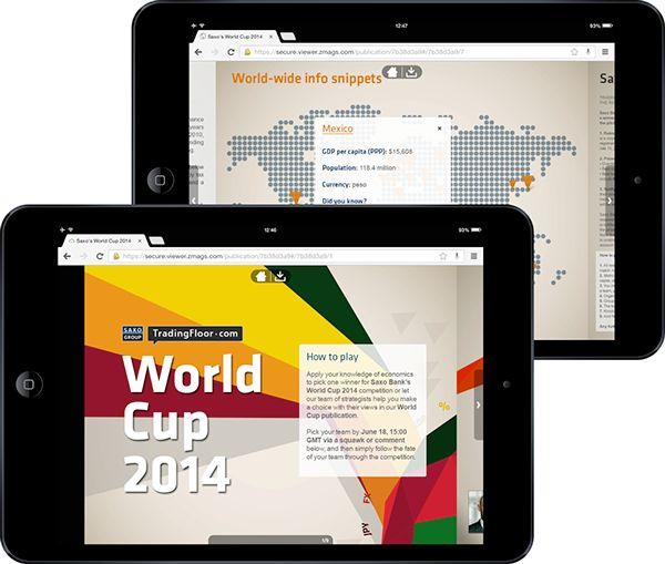 Saxo's World Cup 2014 - TradingFloor.com on Behance