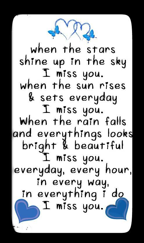 In everything I do, I miss you <3