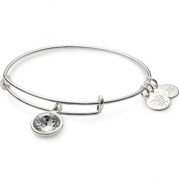 'April Birthstone Charm Bangle