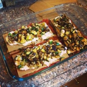 Whole Wheat Vegetarian Lasagna #vegetarian #recipe #lasagna